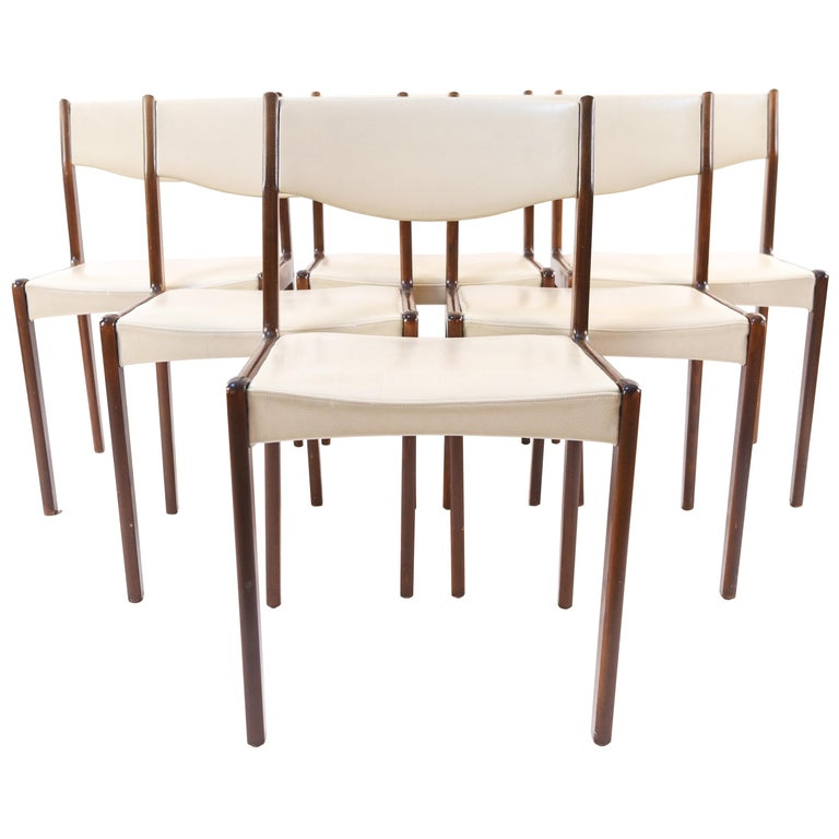 Set of Six Danish Midcentury Rosewood Dining Chairs by Sax