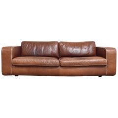 Machalke Cognac Leather Sofa Model Valentino