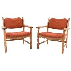 Pair of Henning Kjaernulf Razor Blade Chairs, Denmark, circa 1960