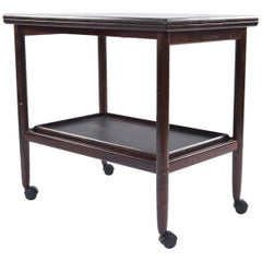 Ole Wanscher Mahogany Serving Cart for Poul Jeppesen
