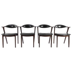 Set of Four Erik Kirkegaard Rosewood Chairs