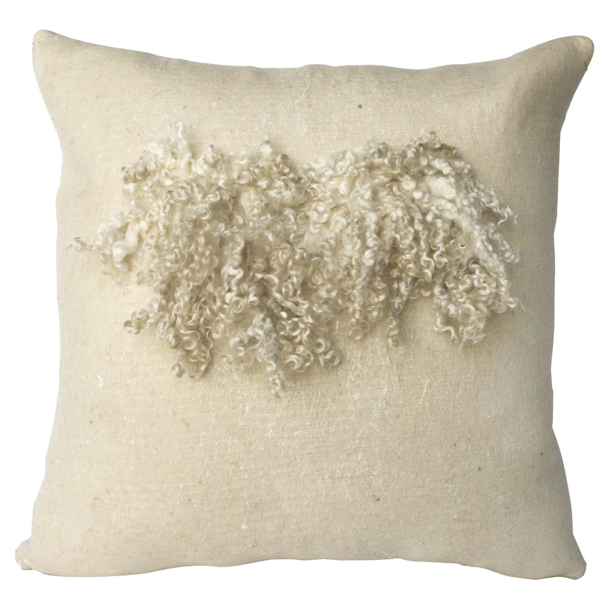Wool and Silk Wensleydale Pillow, Heritage Sheep Collection