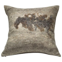 Wool and Silk Wenslydale Pillow Grey, Heritage Sheep Collection