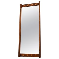Mid Century Rosewood and Copper Mirror
