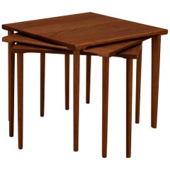 Danish Stacking Teak End Tables by France & Daverkosen