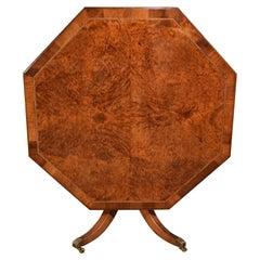 Sechseckige Holztisch Eibe Intarsien gestempelten Gillows