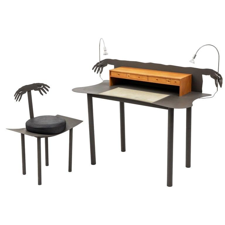 """""""Entremanos"""" Schreibtisch und Stuhl von Andrés Nagel für Akaba, Spanien, 1988 1"""