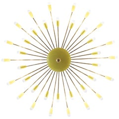 Large 36-Arm Brass Chandelier in the Style of Stilnovo, Italy, circa 1950