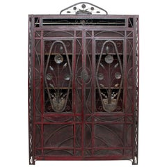 1930s Decorative Metalwork Art Deco French Cupboard