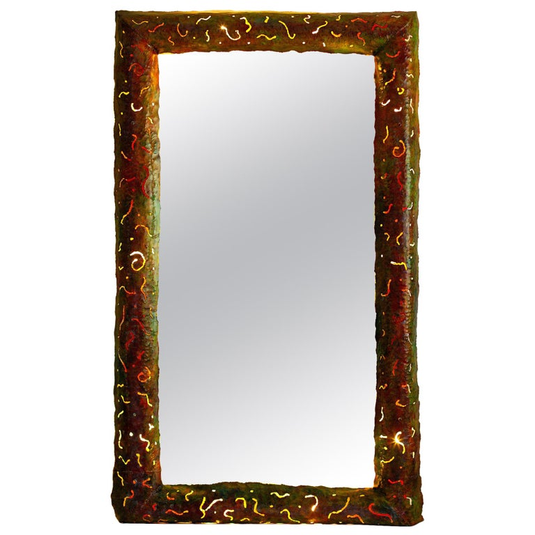 Back-Lit Unique Mirror by Bohuslav Horak, Germany, circa 1990 For Sale