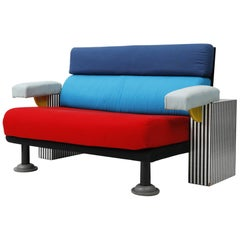 """Lido"" Sofa by Michele de Lucchi for Memphis Milano, Italy, 1982"