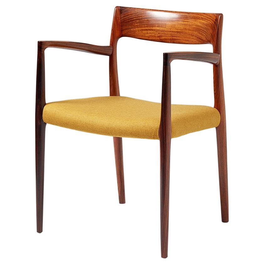 Niels O. Møller Model 57 Rosewood Carver Chair