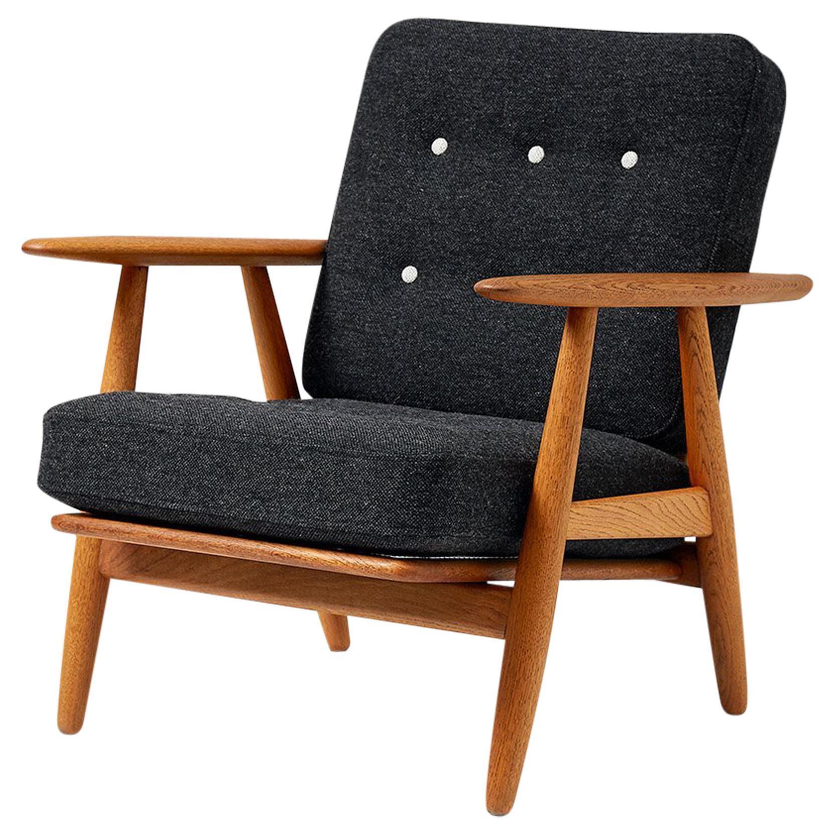 Hans J. Wegner GE-240 Oak 'Cigar' Chair, 1955
