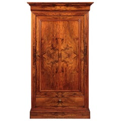 Early 19th Century French Walnut Linen Press or Hall Cupboard