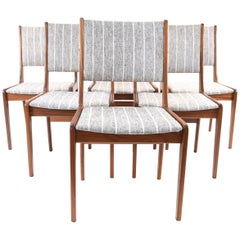 Six Danish Teak Model 7701 Farstrup Dining Chairs by Sax