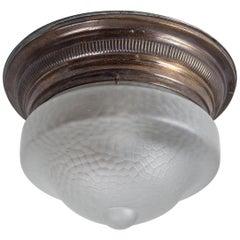 Art-Déco-Leuchte aus poliertem Messing