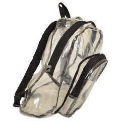 Vintage Nike Plastic Back Pack Clear See Through Advertising Cool