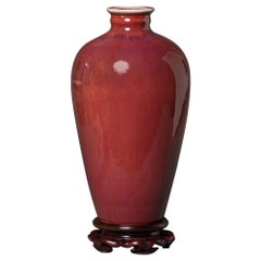 Oxblood Vase with Mei' Ping-Shape