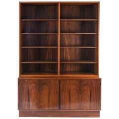 Midcentury Danish Rosewood Wall Unit by Omann Jun