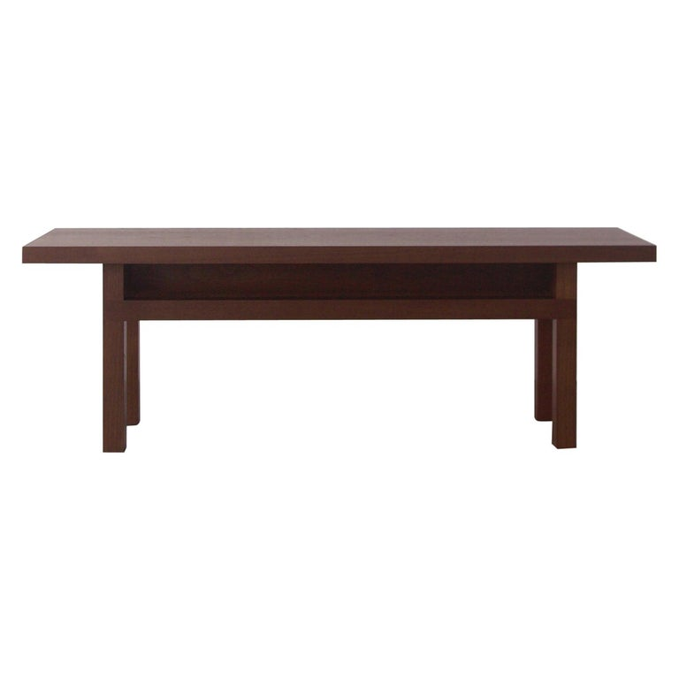 Solid Wood Contemporary Bench in Walnut by Bellboy For Sale