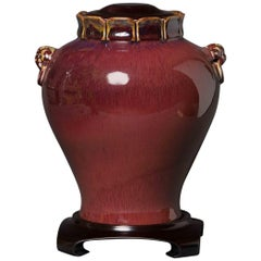 Oxblood Jar with Carved Maker's Name