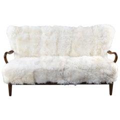 Slagelse Model 177 Danish Midcentury Sofa in Lamb's Wool