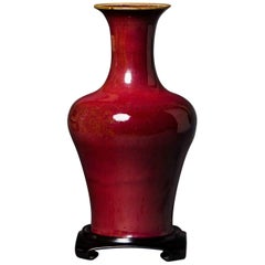 Oxblood Vase with Baluster Shape