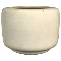 "Architectural Pottery ""Tire"" Planter in Bisque by John Follis & Rex Goode, 1960s"