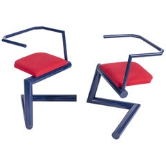 Set of Two Postmodern Chairs, Italy, circa 1980
