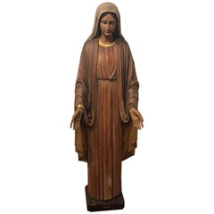 Large Religious Had Carved Statue of Virgin Mary