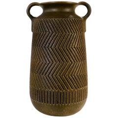 "Ceramic Floor Vase by Mari Simmulson ""Zig-Zag"" for Uppsala-Ekeby, 1960s"