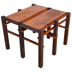 Small Jacaranda Wood Occasional Table