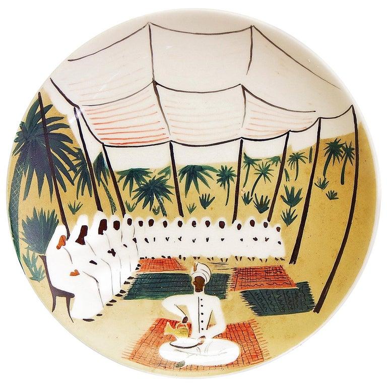 """""""Moroccan Agadir Bazaar,"""" Unique Midcentury Bowl by Waylande Gregory For Sale"""