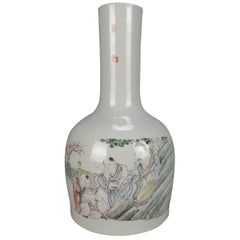 Antique Chinese Hand Painted and Signed Bottle Vase, 19th Century