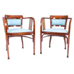 Art Nouveau Vienna Armchairs Attributed to Otto Wagner Thonet Gebruder