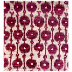 Rumi 'Solinka - Grape Pom' Hand Knotted, Natural Silk, Contemporary Purple Rug