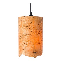 CENTA Custom Karelian Burl Wood with Live Edge Cylinder Pendant