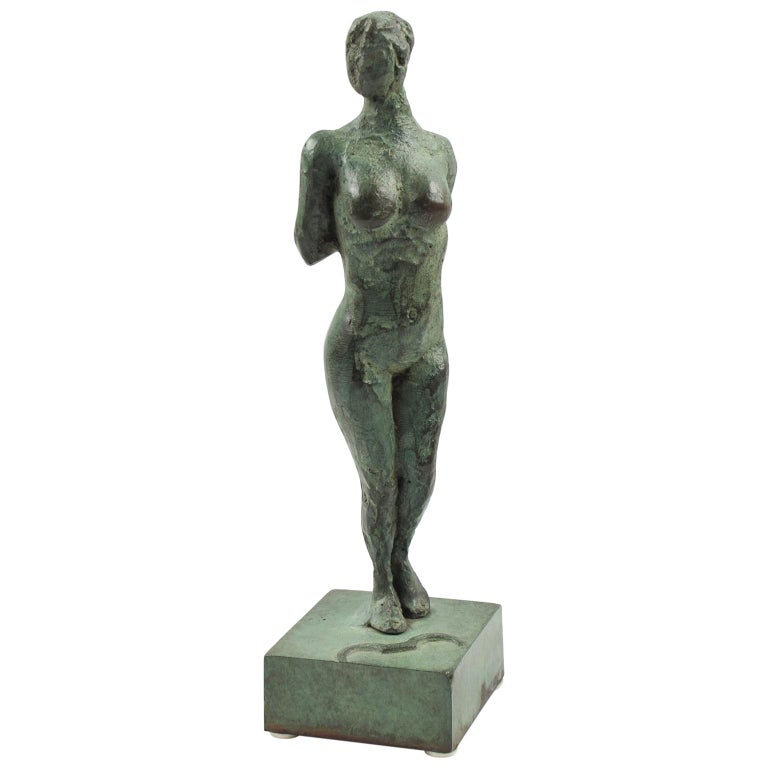 French Art Deco Bronze Sculpture Diana the Huntress or Diane Chasseresse For Sale