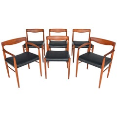 Set of Six H.W. Klein Teak and Rosewood Dining Chairs
