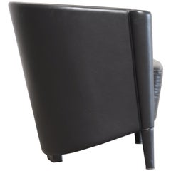 Moroso Model Rich Design Antoni Citterio Armchair Chair Black Leather