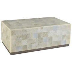 Handcrafted White Onyx Stone Coffee Table
