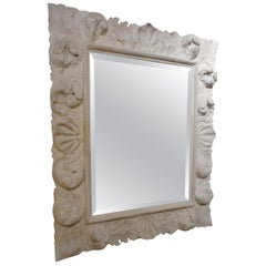 Fine Baroque Plaster Mirror, France 1940