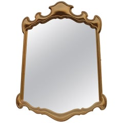 Large Sculptural Italian Mirror