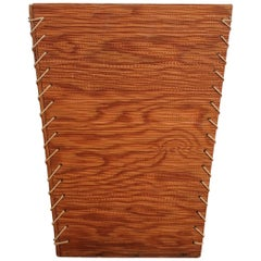 Rope and Wood Wastepaper Basket, 1950s