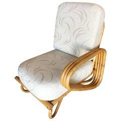 "Restored ""Triple Triangle"" Open Air Pretzel Single Arm Lounge Chair"