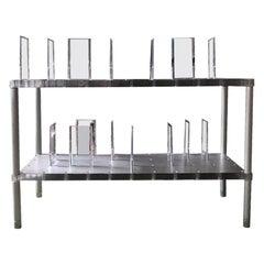 Kartell Lucite & Aluminum Partner Case System Modular Shelves by Alberto Meda