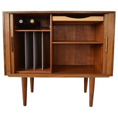 Danish Kai Kristiansen Rosewood Record Player/Bar Cabinet for Fm Møbler, 1960s