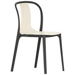 Vitra Outdoor Belleville Chair in Cream Plastic by Ronan & Erwan Bouroullec