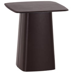 Vitra Medium Leather Side Table in Chocolate Leather by Ronan & Erwan Bouroullec