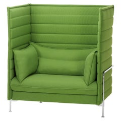 Vitra Alcove Highback Loveseat in Grass Green Laser by Ronan & Erwan Bouroullec